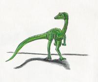 """Procompsognathus triassicus """"pentadactyl"""" (*) (C/N)"""