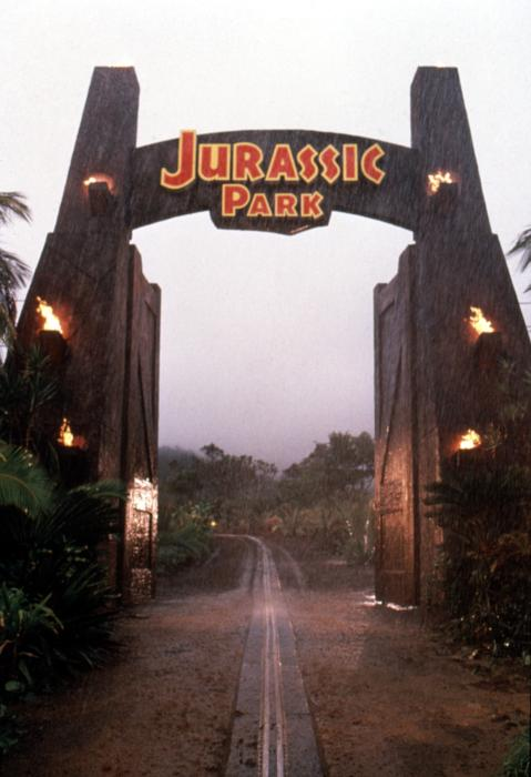 jurassic park main gate  s  f