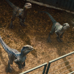 Velociraptors in containment