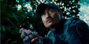 Hamada during the hunt for the Indominus rex.